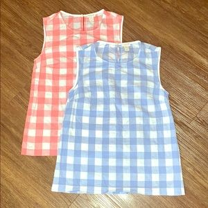 J Crew plaid tank red and blue